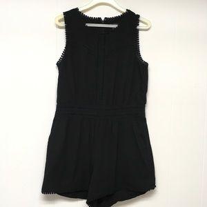 Ann Taylor LOFT Romper Black Lace Size 2